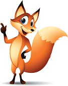 Cartoon graphics of fox