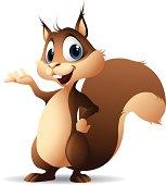 Cartoon graphics of squirrel