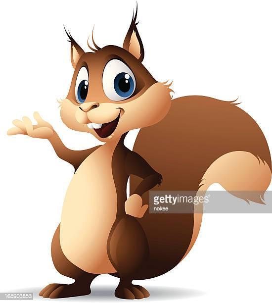 cartoon graphics of squirrel - squirrel stock illustrations
