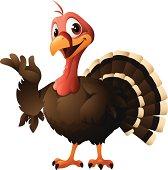 Cartoon graphics of turkey