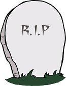 Cartoon Gravestone