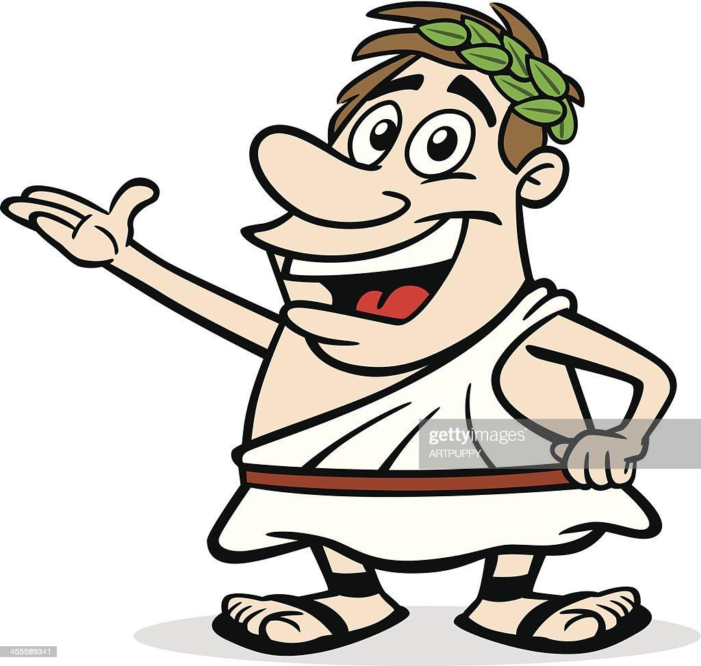 Cartoon Greek Guy