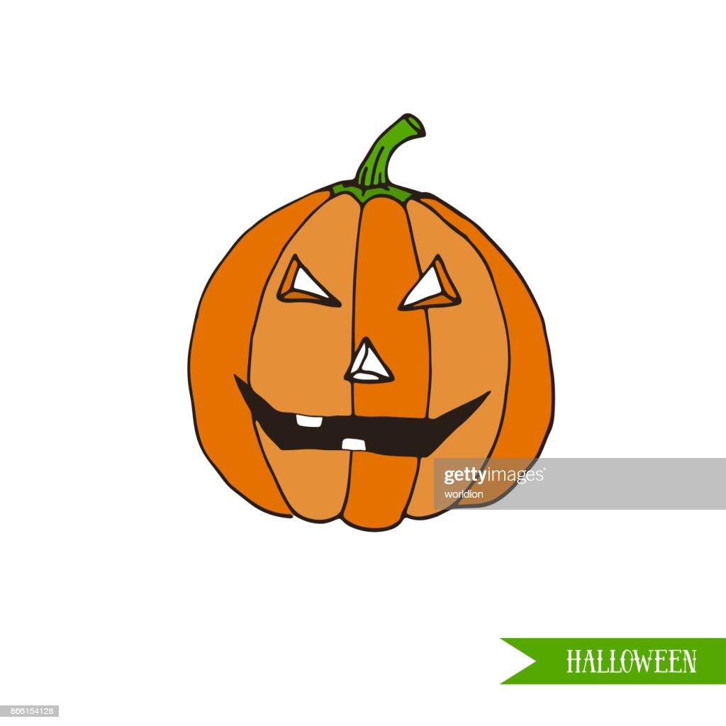 Dessin Anime Halloween Jack.Dessins Animes Halloween Pumpkin Jackolantern Illustration Vectorielle Design Autocollant Ou Patch Illustration Getty Images