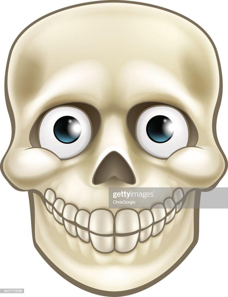 Cartoon Halloween Skull Skeleton Character
