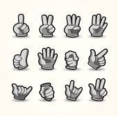 cartoon hand icons