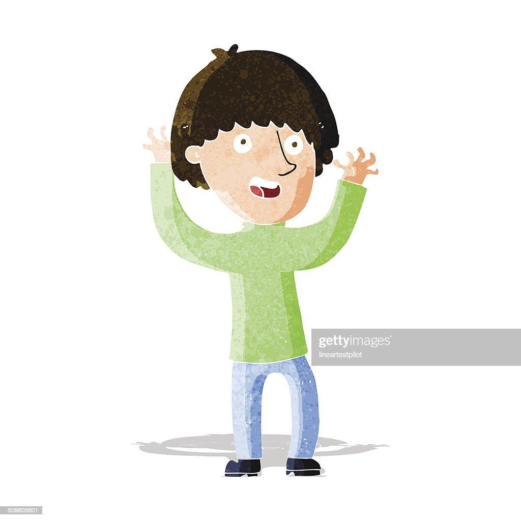 Rapaz feliz Rir : Arte vetorial
