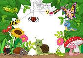 Cartoon happy little animals . vector illustration