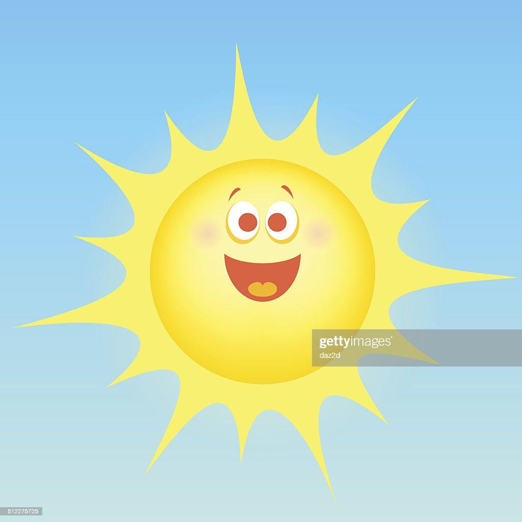 cartoon happy sun vector art getty images