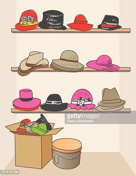 Cartoon Hat Store Display