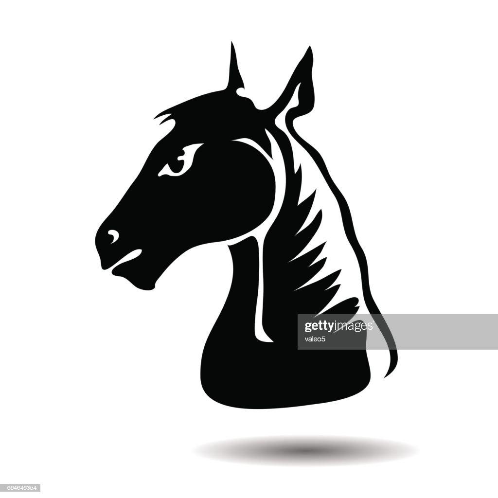 Cartoon Head of Horse
