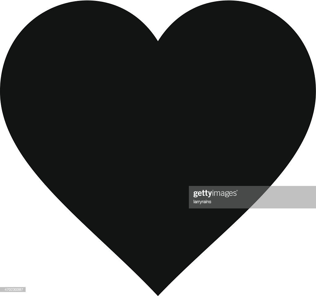 Cartoon Heart Silhouette