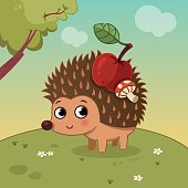 Cartoon Hedgehog Character
