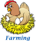 Cartoon hen character