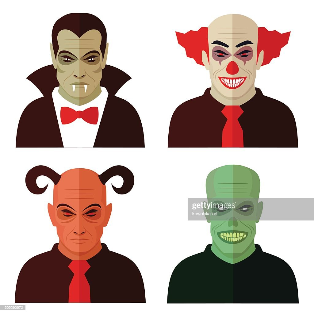 cartoon horror characters,