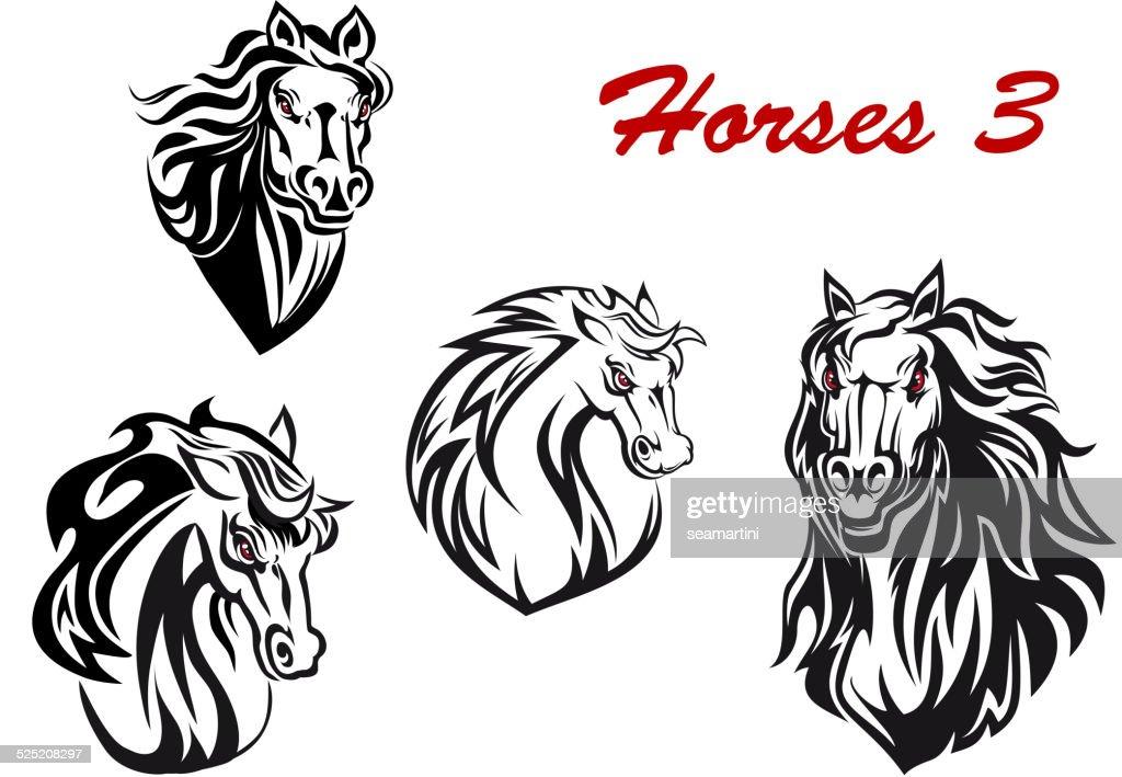 Cartoon horse characters