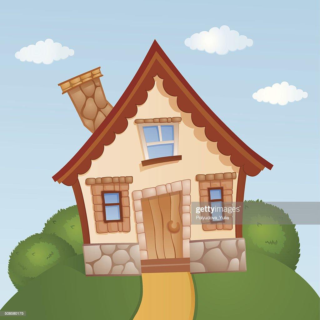 Cartoon house : Vektorgrafik