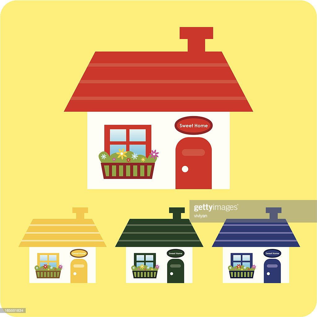 Awesome Coloring Houses Motif - Coloring Page - senderolasbrumas.info