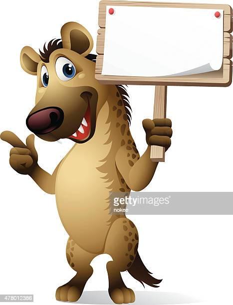 Cartoon Hyena - Sign