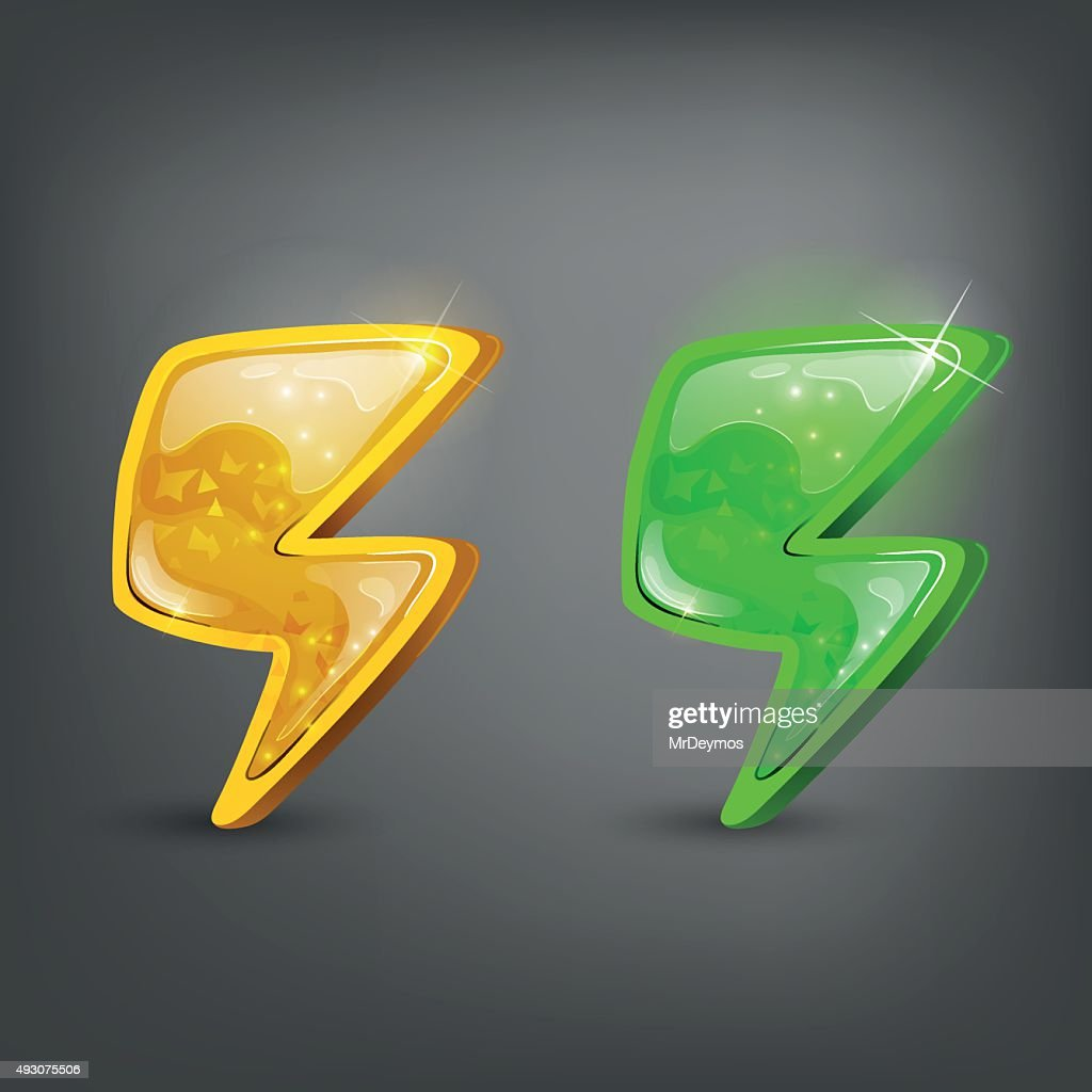 Cartoon icon energy. Vector illustration.