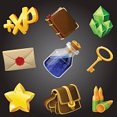 Cartoon icons collection for 2d games
