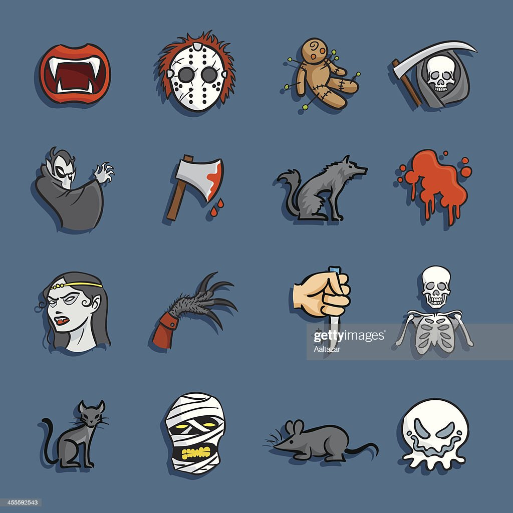 Cartoon Icons - Horror