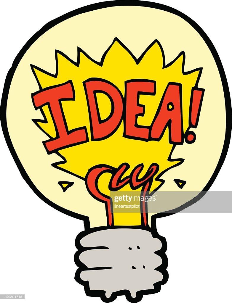 Cartoon Idea Light Bulb Symbol Vector Art Getty Images