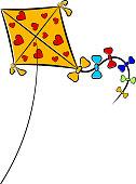 Cartoon illustration of a kite. eps10