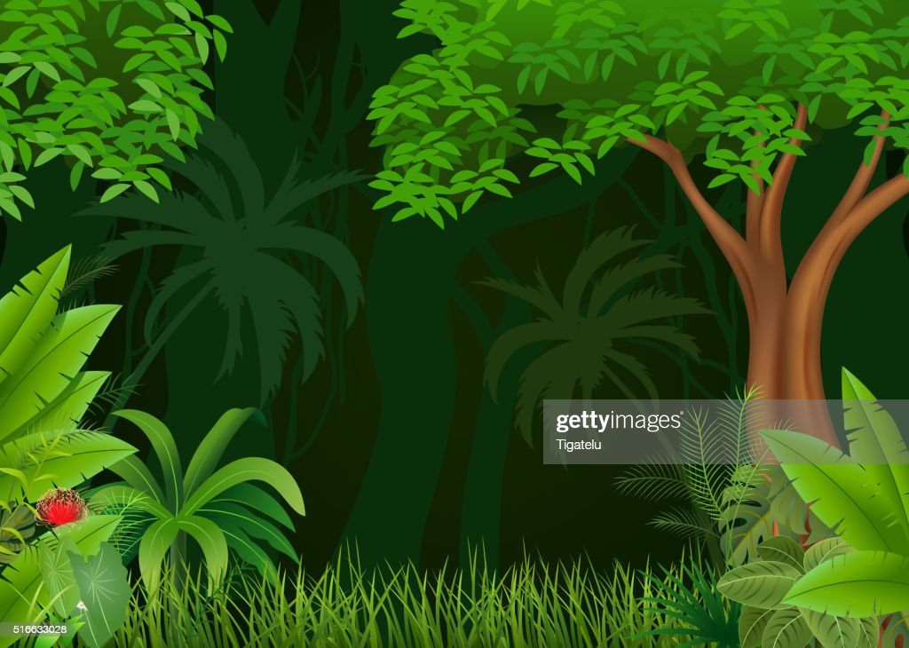 Cartoon illustration of beautiful natural background