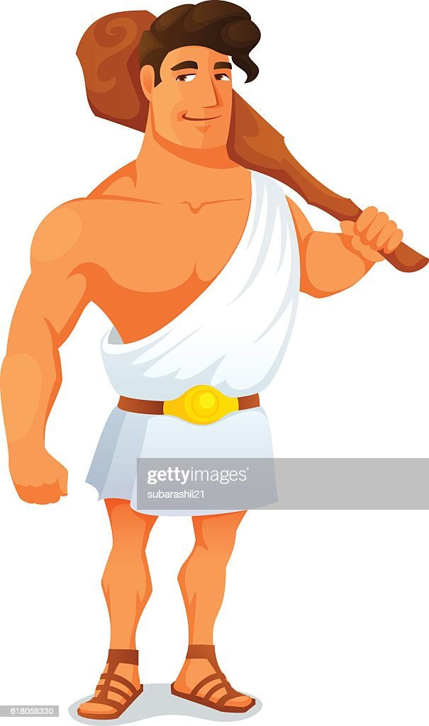 cartoon illustration of the Greek hero Hercules