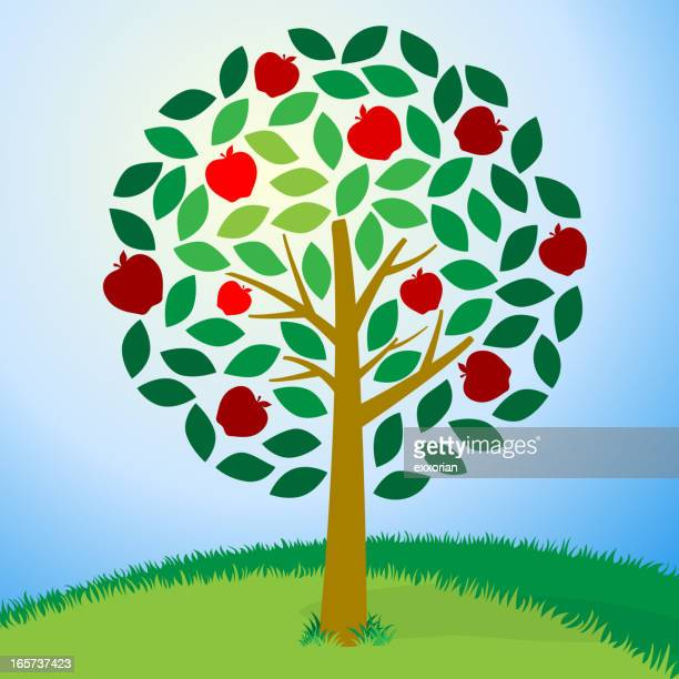 Cartoon image of an apple tree