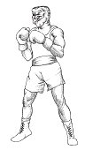 Cartoon image of boxer