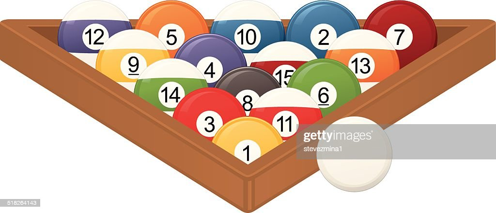 Cartoon image of pool ball set