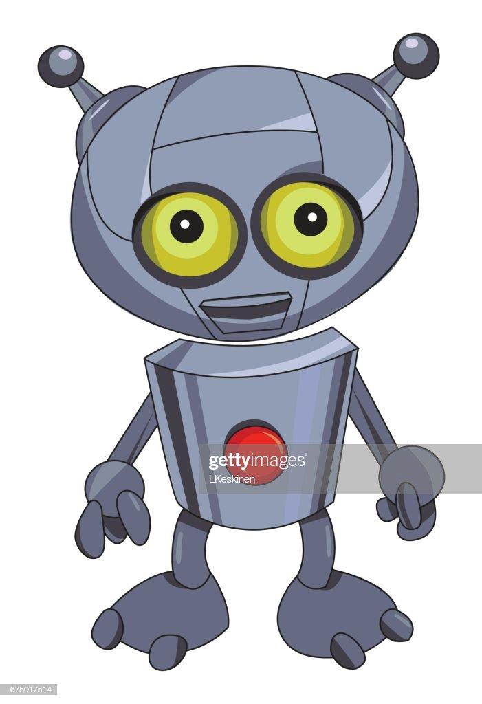 Cartoon image of robot