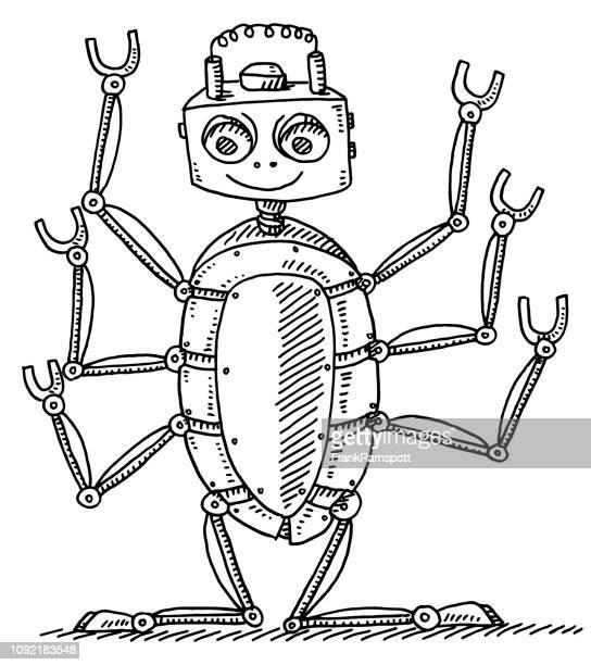 Comic-Insekt Roboter-Zeichnung