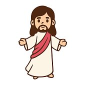 Cartoon Jesus drawing