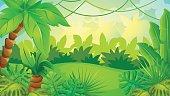 Cartoon Jungle Game Background