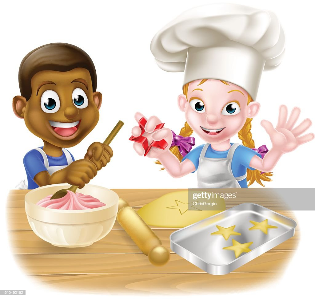 Cartoon Kids Cooking