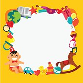 Cartoon kids frame