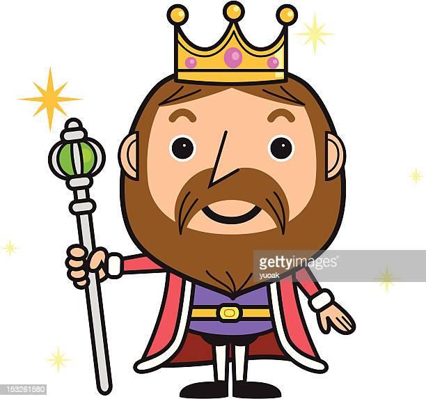 cartoon king - emperor stock illustrations, clip art, cartoons, & icons