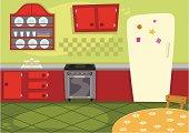 Cartoon Kitchen