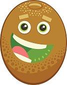cartoon kiwi fruit character