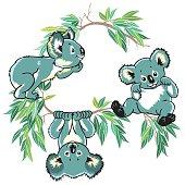 cartoon koala bears