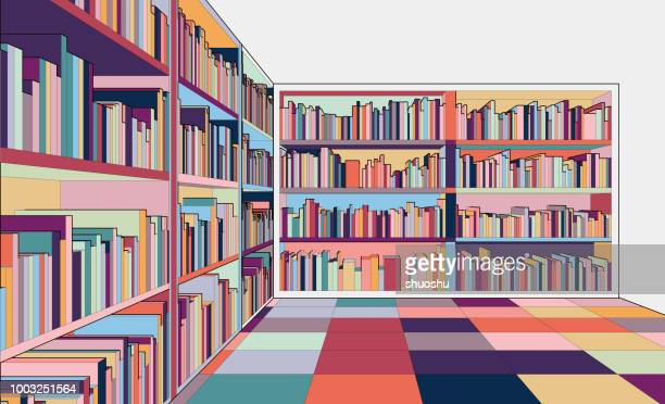 cartoon library - library stock illustrations