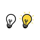 Cartoon Light Bulb or Idea