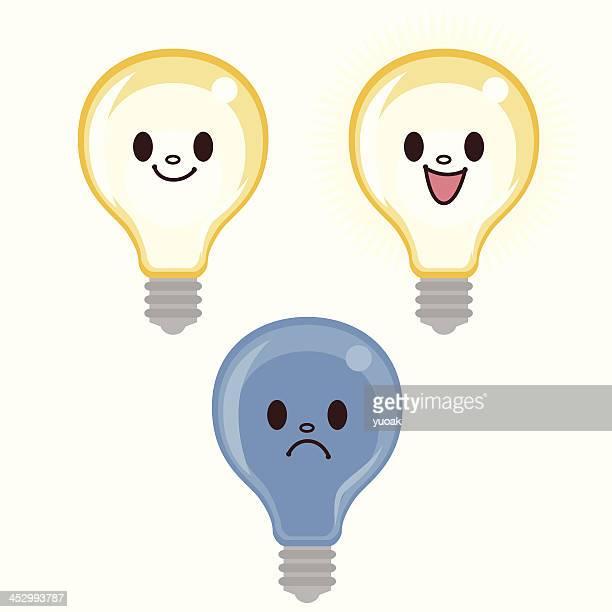 cartoon lightbulb - power outage stock illustrations, clip art, cartoons, & icons
