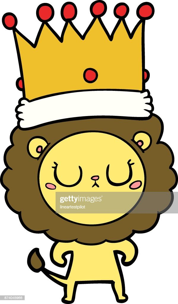 Cartoon Lion With Crown High Res Vector Graphic Getty Images Here presented 59+ lion with crown drawing images for free to download, print or share. https www gettyimages com detail illustration cartoon lion with crown royalty free illustration 874045966