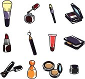 cartoon makeup icon