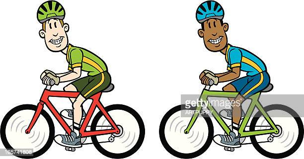 Illustrations et dessins anim s de casque de v lo getty - Cycliste dessin ...