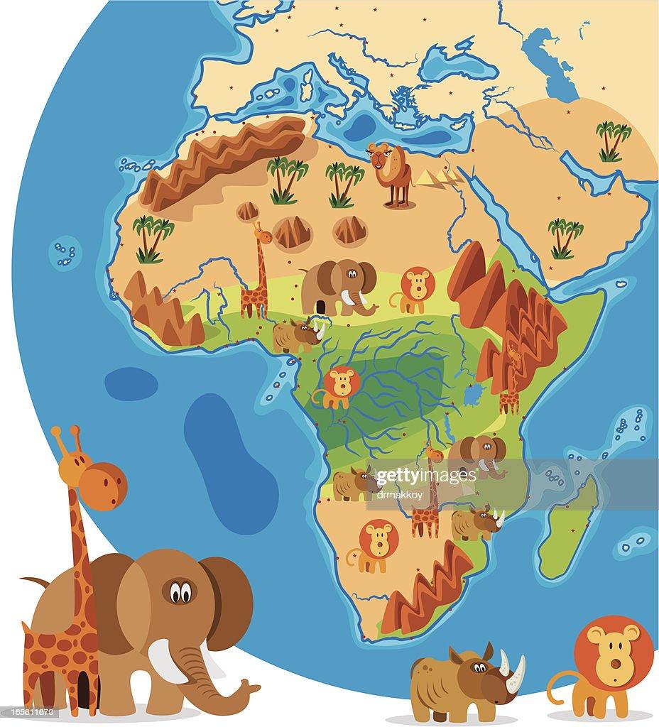 africa map cartoon