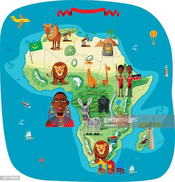 ilustraciones, imágenes clip art, dibujos animados e iconos de stock de dibujo mapa de áfrica - áfrica